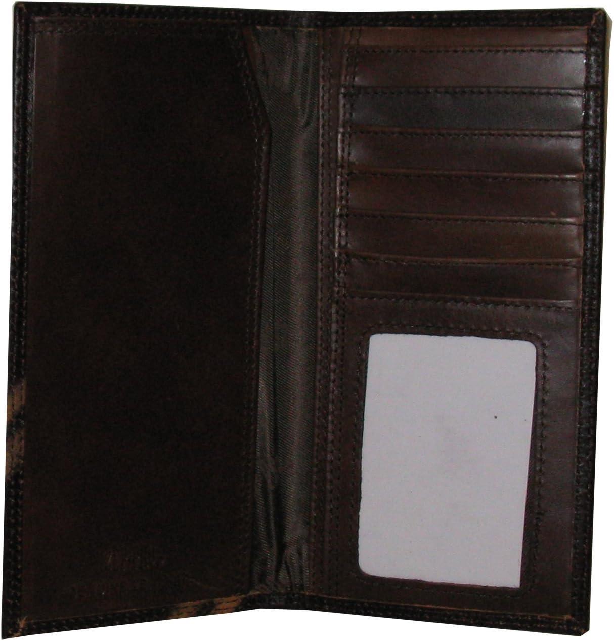 ZEP-PRO Mississippi Leather Crazy Horse Brown Long Roper Wallet