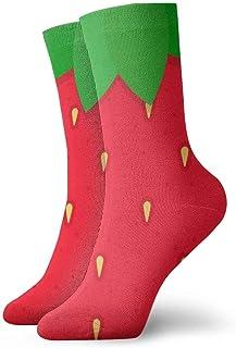 Kevin-Shop Calcetines de Vestir Calcetines Divertidos Calcetines Locos Calcetines Casuales para niñas, Rojo Fresa