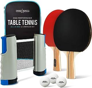 ProSpin-USA Ping Pong Paddle Set – 2 o 4 Jugadores – Raquetas de Tenis de Mesa de Alto Rendimiento, Pelotas de Entrenamiento Profesional, Funda de Viaje