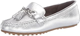 Aerosoles Women's Soft Driving Style Loafer, Silver Metallic