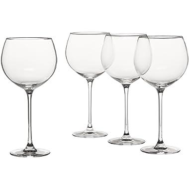 Lenox 6099808 Tuscany Classics 4pc Beaujolais Wine Glass, 3.05 LB, Clear