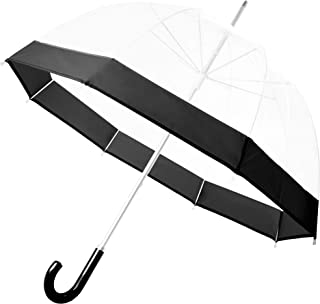 Clear Bubble Umbrella for Rain, Dome Shaped & Lightweight Transparent Rain Stick Umbrella
