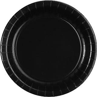 Creative Converting 533260 Black Round Paper Plates 8 Pack