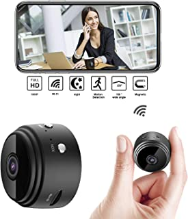 2020 Upgrade Mini Spy Camera 1080P Hidden Camera Portable Small HD Nanny Cam with Night Vision and Motion Detection Perfect Indoor Covert Security Camera for Home and Office Hidden Spy Cam