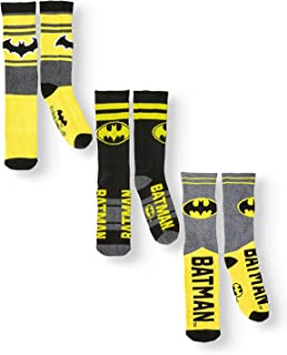 DC Comics Batman 3 Pair Athletic Crew Socks