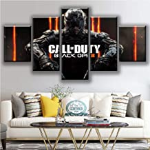 HIMFL Home Decor Canvas Painting 5 Pieces Black Ops 4 Call Duty Game Posters HD Prints Wall Art Room Modular Pictures Artwork,A,30×50×2+30×70×2+30×80×1