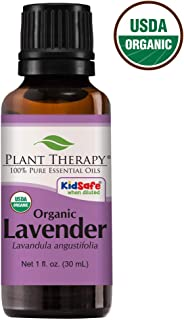 Plant Therapy Lavender Organic Essential Oil 100% Pure, USDA Certified Organic, Undiluted, Natural Aromatherapy, Therapeutic Grade 30 mL (1 oz)