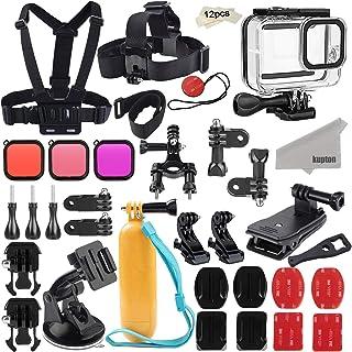 Kupton Kit de Accesorios para GoPro Hero 8, Juego de Accesorios para Cámara de Acción, Carcasa Impermeable + Filtros + Guinda para el Cuello +Montura de Ventosa+Montura de Pared