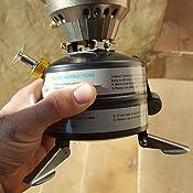 Docooler - Juego de utensilios de cocina para acampada y exterior, con estufa con quemador de alcohol y soporte, 1