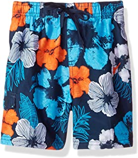 Kanu Surf Boy's Hangout Floral Quick Dry Beach Board Shorts Swim Trunk Swim Trunks