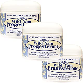Wild Yam Progesterone Cream (Bioidentical) With Chaste Tree Berry (Vitex) For Balance Paraben Free Unscented Non GMO Wise ...