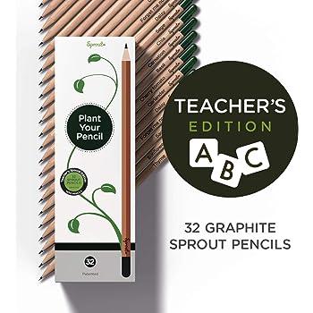Sprout crayons à planter avec citationsboîte de 5 crayons graphiteen bois