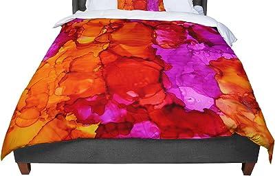 Cal King Comforter 104 X 88 KESS InHouse Claire Day Yellow Orange King