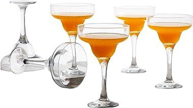 Home Centre Wexford Firenze Super Clarity Margarita Glass- Set of 6 - Transparent