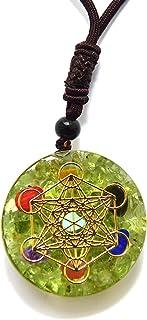 قلادة متدلية من PSEEHEE، مكعب ميتاترون، Merkaba Reiki Chakra شفاء أحجار كريستال مجوهرات الرجال النساء