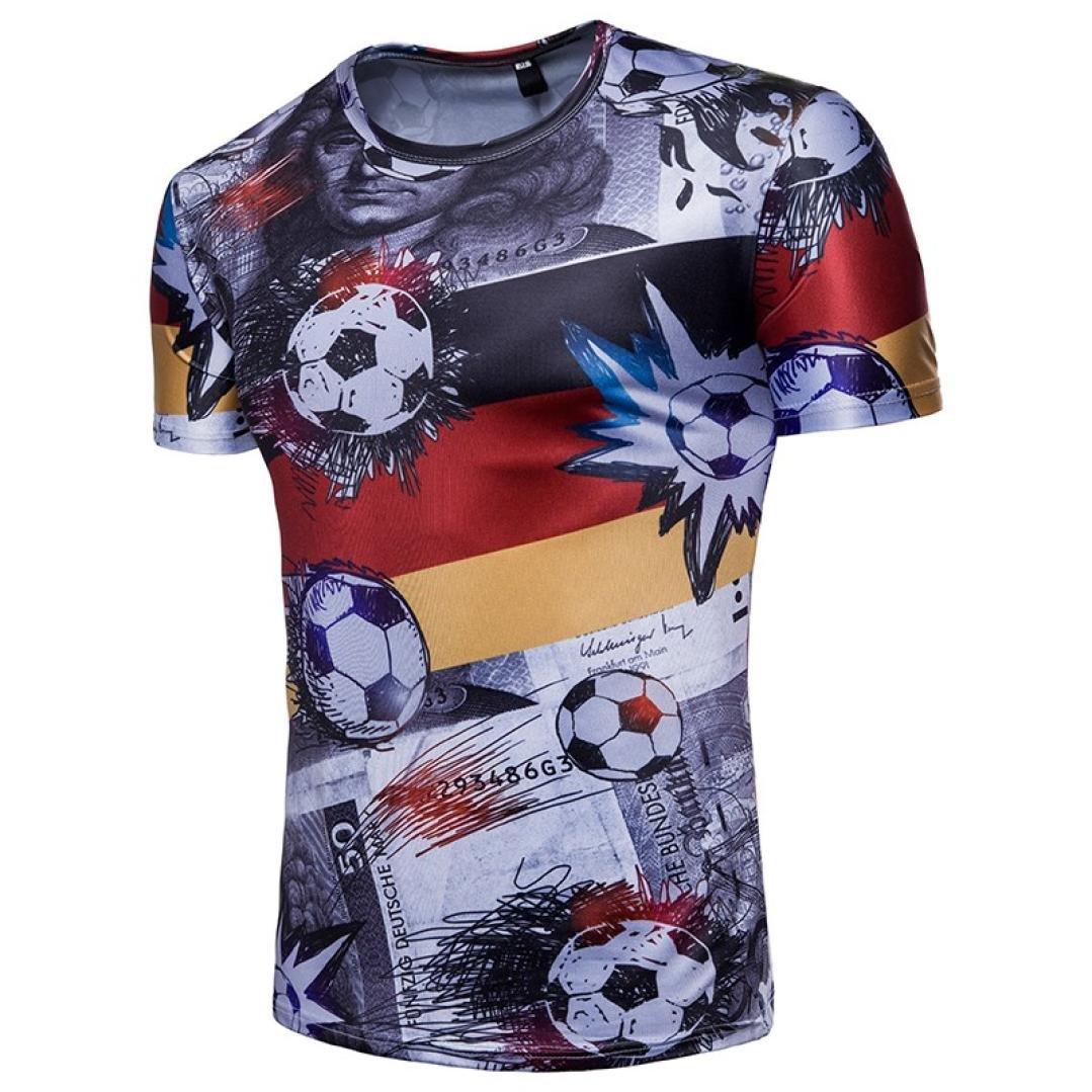 LuckyGirls Camisetas Hombre Originales Estampado de Fútbol Verano Manga Corta Camisas para Copa Mundial FIFA 2018 Moda Polos Casual Remera (M, Negro): Amazon.es: Deportes y aire libre