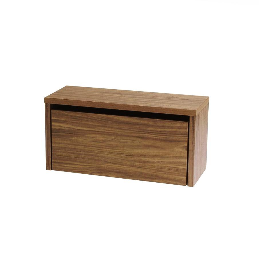 声を出して振る舞う桃川口工器 木製ベンチチェスト 天板耐荷重80kg (幅77cm, ブラウン)