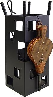 Imex der Fuchs 10042 Nützliche Set für Kamin, quadratisch Blasebalg, 50 x 20 x 20 cm schwarz