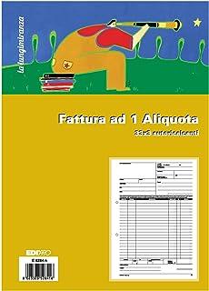 EDIPRO E5284A - Bloc factura 1 tipo 33 x 3 autocalcante f.to 29,7 x 22