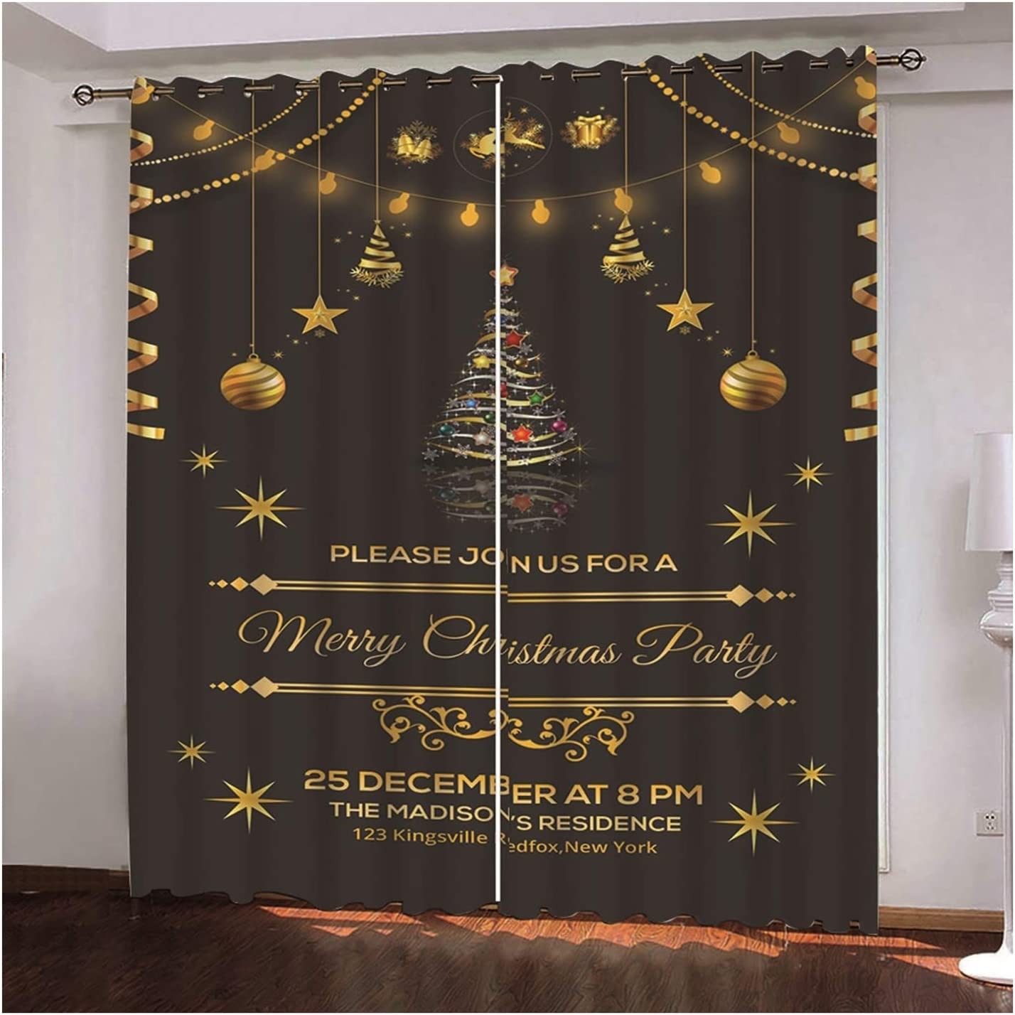 Daesar Merry Christmas Living Room Bedroom Curtains Curtain for Super Limited time cheap sale intense SALE