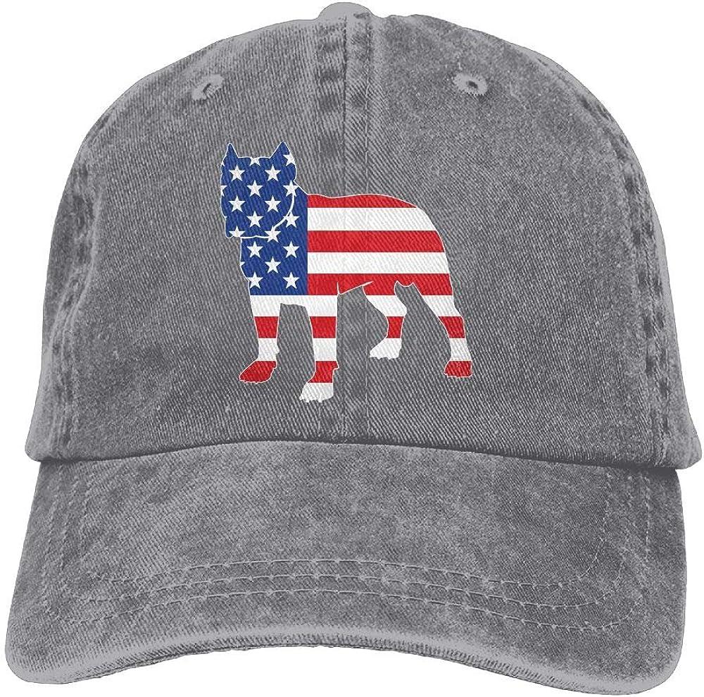 Anotolate Noe Patriotic Pitbull American Flag Adjustable Hat Trucker Cap Dad Cap Baseball Cap
