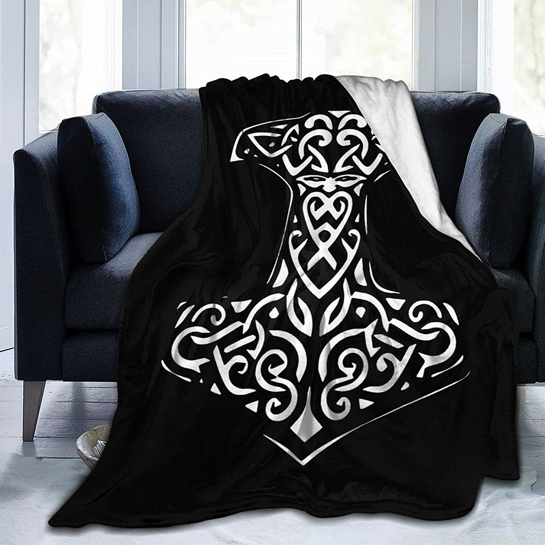 Thor's Hammer Bargain Viking Norse OFFicial Blanket 3D Bed Print Quilt Light Warm