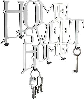 Schlüsselbrett / Schlüsselboard  Home Sweet Home - Hakenleiste - Stahl Silber