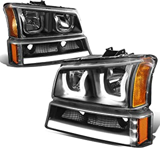 DNA Motoring Black amber HL-3DLED-C03-BK-AM LED Headlight Assembly (Driver & Passenger Side)
