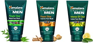 Himalaya Men Pimple Clear Neem Lemon and Licorice Face Wash Face Wash is a soap-free formulation that helps fight pimples ...