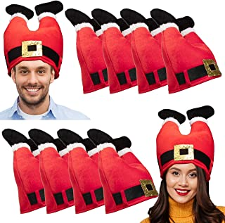 10 Pack, Christmas Hat Set: Christmas Tree Hat or Santa Hat Bulk for Christmas Costumes for Adults and Kids