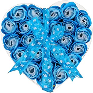 (ノタラス)Notalas <ブルーローズ>石鹸の花 花束 造花 母の日・結婚祝い ・記念日・ホワイトデー・送別・誕生日・祝い・卒業・退職・敬老の日 贈り物・ギフト・プレゼント 24本 Flower Soap