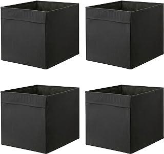 comprar comparacion Ikea DRONA–Caja, Negro 33x 38x 33cm (para Expedit Juego de estantes, 4unidades, tejido, negro, solo pack