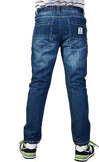 Leo/&Lily Big Boys Kids Husky Waist Denim Regular Fit Jeans Pants LLB628