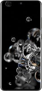 هاتف سامسونج جالكسي اس 20 الترا ثنائي شرائح الاتصال - 128 جيجا بايت، مع ذاكرة رام 12 جيجا بايت، 5 جي 6.9 Inch SM-G988BZKIKSA