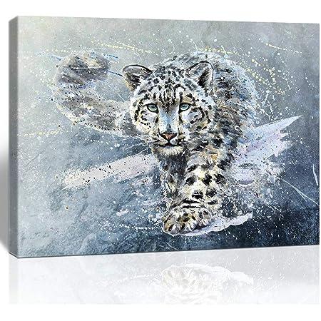 Leopard Wild animal print poster gift, watercolour wallart posters prints