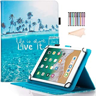 8.0 inch Tablet Case, Universal Protective PU Leather Case Cover for All 7.5-8.5 inch iPad Mini 1 2 3 4,Samsung Galaxy Tab A 8.0/Tab E 8.0, F i r e HD 8, Android iOS Tablet, Live It