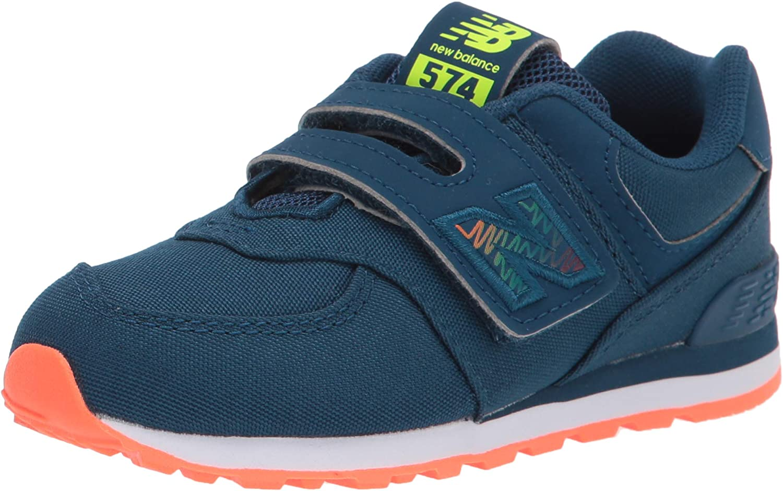New Balance Kids' 574 V1 Scribble Hook and Loop Sneaker