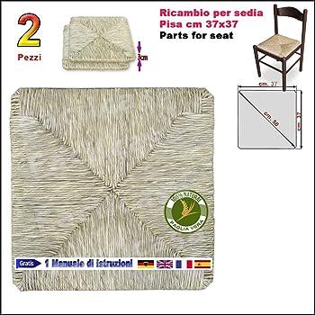 Seduta Pannello Fondo Sedile in vera paglia per sedia poltrona PICCOLO PISA