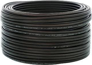 125dB Clase A+ Cable coaxial 75 ohmios con Aislamiento qu/íntuple Cable de TV Conector coaxial  Enchufe coaxial DCSk Cable de Antena HDTV FullHD Negro de 6m