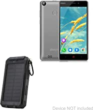 BoxWave Doopro P1 Pro Battery, [Solar Rejuva PowerPack (6000mAh)] Solar Powered Backup Power Bank for Doopro P1 Pro - Jet Black