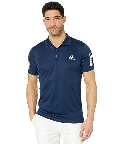 adidas Club 3-Stripes Polo (Collegiate Navy/White) Men