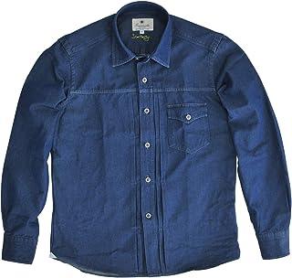 (ジャンネット)GIANNETTO メンズ 長袖カジュアルシャツ ブルー 正規取扱店