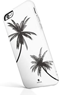 iPhone 6/6s case for Girls, Akna Get-It-Now Collection High Impact Flexible Silicon Case for Both iPhone 6 & iPhone 6s [Black Palm Trees](529-U.S)