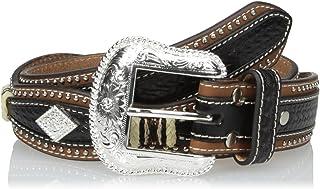 حزام رجالي من Nocona بتصميم صدفي ماسي أسود