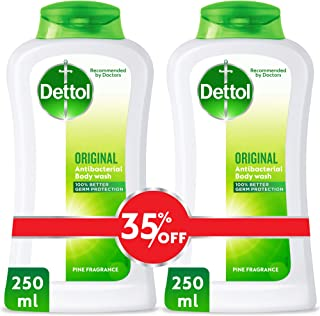 Dettol Original Anti-Bacterial Body Wash 250ml Twin Pack At 35% Off