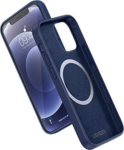 popular UGREEN Magnetic sale Case Compatible for iPhone 12 Pro Silicone Case sale with Mag-Safe Charging Soft Edges Shockproof Slim Thin Case 6.1 Inch Navy Blue online sale