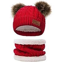 Yeabiu Infant Winter Hat Scarf Set