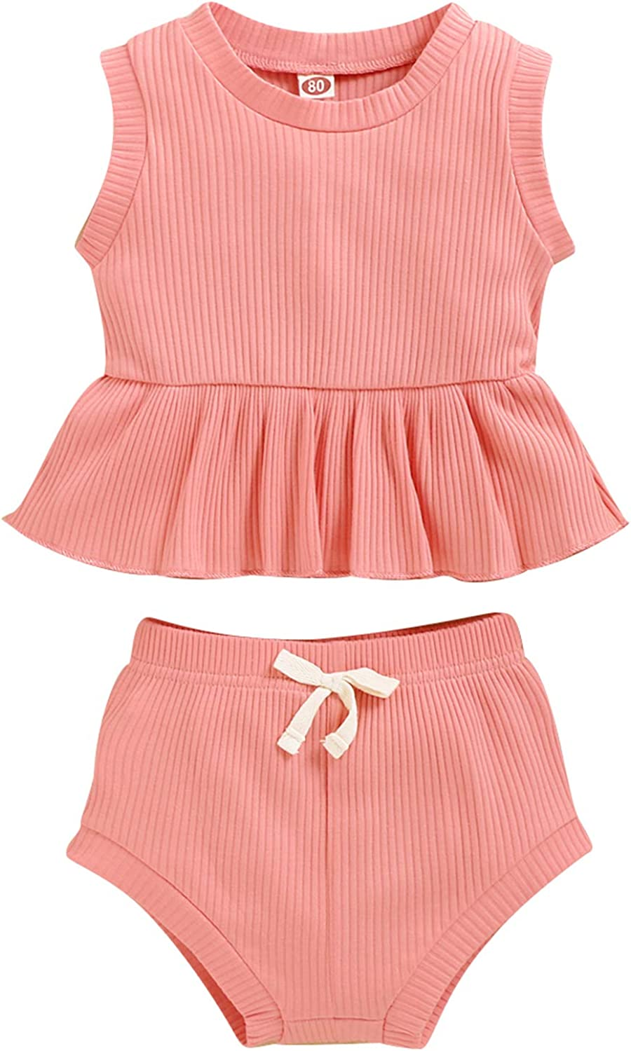 Baby Girl Clothes Toddler Branded goods Outfit 2Pcs Sets Sleeveles NEW Cotton