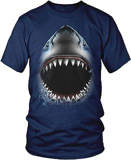 Amdesco Great White Shark Bite, Shark Face Jaw Men's T-Shirt
