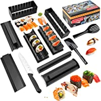 Sushi Making Kit Deluxe Edition with Complete Sushi Set 11 Pieces Plastic Sushi Maker Tool Complete with 8 Sushi Rice...
